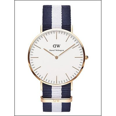 DANIEL WELLINGTON Nato Glasgow Rose Gold Plated case