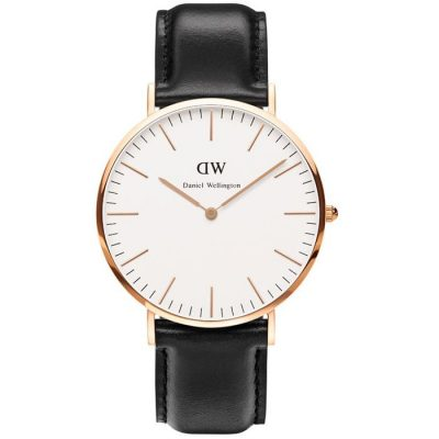 DANIEL WELLINGTON Sheffield Black Leather Strap Gents Watch -Cod.: 0107DW