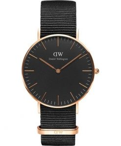 Daniel Wellington Classic Black Cornwall 36mm Rose Gold 0150DW