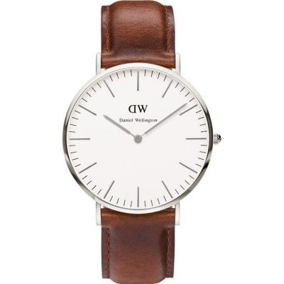 DANIEL WELLINGTON St. Andrews Brown Leather Strap Unisex Watch -Cod.: 0207DW
