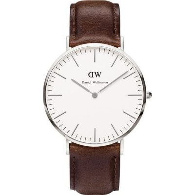 DANIEL WELLINGTON Bristol Brown Leather Strap Unisex Watch -Cod.: 0209DW