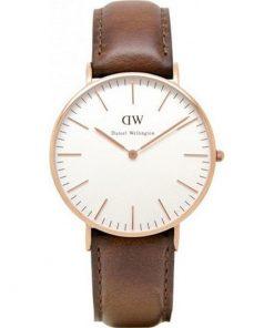 DANIEL WELLINGTON Classic St.Mawes Brown Leather Strap Ladies Watch -Cod.: 0507DW