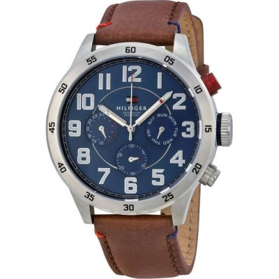 Tommy Hilfiger Trent Multifunction Brown Leather Strap Gents Watch - Cod.: 1791066