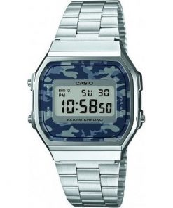 Casio Collection Camouflage Stainless Steel Bracelet Unisex Watch- Cod.: A-168WEC-1EF