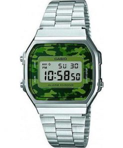 Casio Collection Camouflage Stainless Steel Bracelet Unisex Watch- Cod.: A-168WEC-3EF