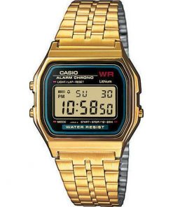 Casio Collection Gold-Tone Stainless Steel Bracelet  Gents Watch- Cod.: A159WGEA-1EF