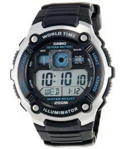 Casio Digital Black Resin Strap Gents Watch- Cod.: AE-2000W-1AVDF