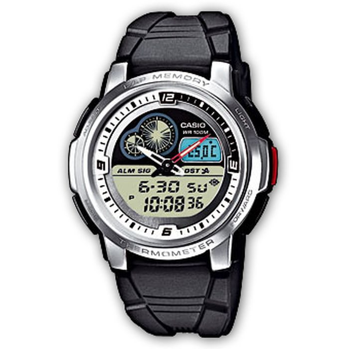 Casio Outgear THERMOMETER World Time 50 Lap Memory 100M WR Watch AQF-102W-7BV