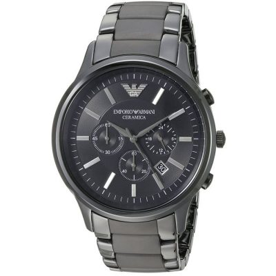 Emporio Armani Black Ceramic Gents Watch- Cod.: AR1451