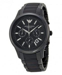Emporio Armani Black Ceramic Gents Watch AR1452