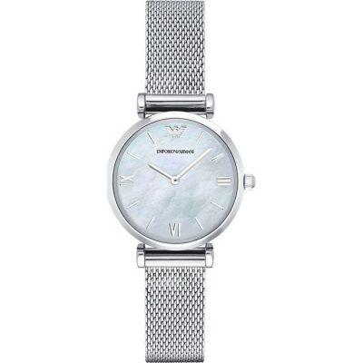 Emporio Armani Chronograph Silver Stainless Steel Silver Stainless Steel Bracelet AR1955