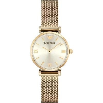 Emporio Armani Chronograph Gold Plated Stainless Steel Gold Stainless Steel Bracelet AR1957