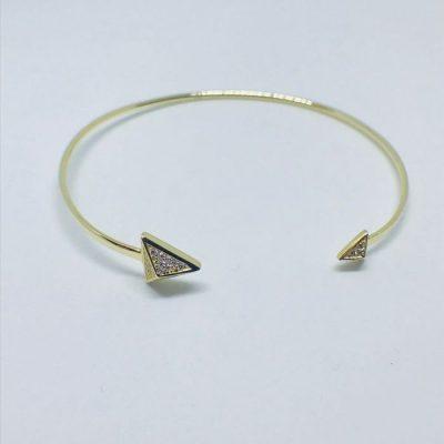 Γυναικείο ασημένιο επιχρυσωμένο βραχιόλι με zircon πέτρες d400d09945c