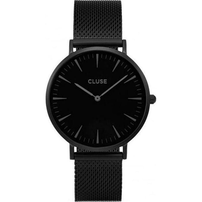 Cluse La Boheme Mesh Unisex Black Metal Bracelet CL18111