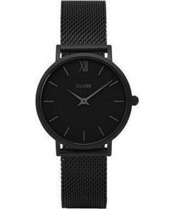Cluse Minuit Mesh Ladies Black Metal Bracelet CL30011