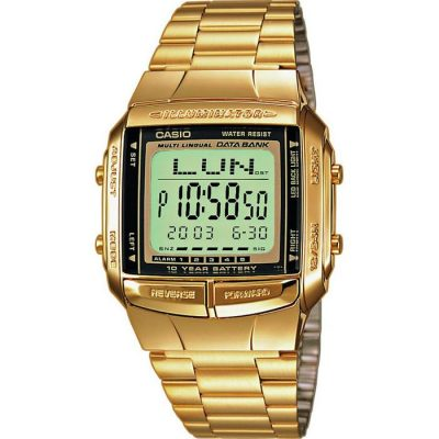 Casio Collection Gold Tone Stainless Steel Bracelet  Gents Watch- Cod.: DB-360GN-9AEF