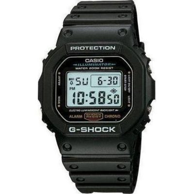 Casio G-Shock Digital Black Rubber Strap Gents Watch- Cod.: DW-5600E-1VER