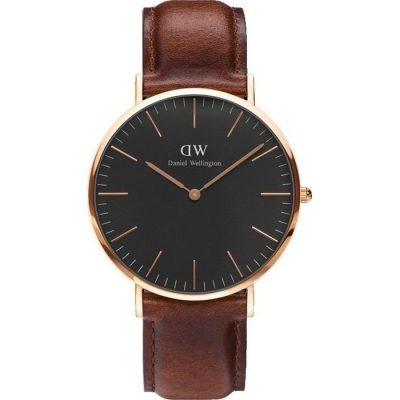 Daniel Wellington St Mawes Classic Black / Rose Gold 40mm
