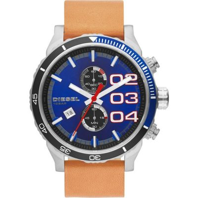 DIESEL Chrono Brown Leather Strap DZ4322