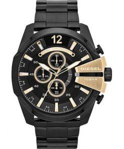 DIESEL Mega Chief Black Stainless Steel Bracelet Gents Watch-  DZ4338