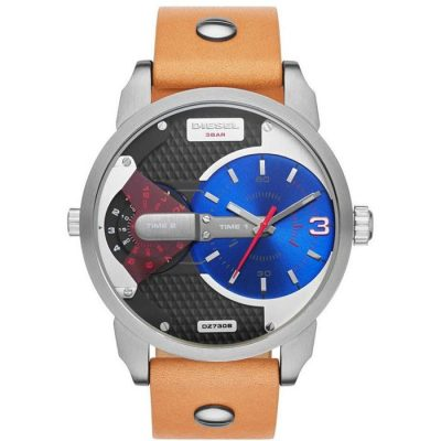 DIESEL Mini Daddy Brown Leather Strap DZ7308