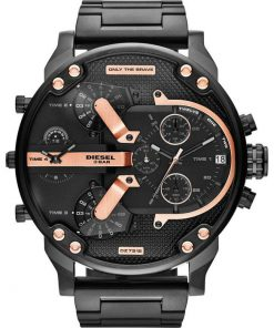 DIESEL Xxl Mr Daddy 2 Black Stainless Steel Chronograph Gents Watch-  Cod: DZ7312