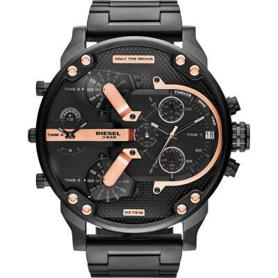 DIESEL Xxl Mr Daddy 2 Black Stainless Steel Chronograph Gents Watch-  Cod: DZ7312