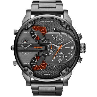 DIESEL XXL Mr Daddy 2 Black Stainless Steel Chronograph Gents Watch-  Cod: DZ7315