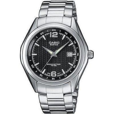 CASIO Edifice Stainless Steel Bracelet Black Dial EF-121D-1AV 6561b5978bc
