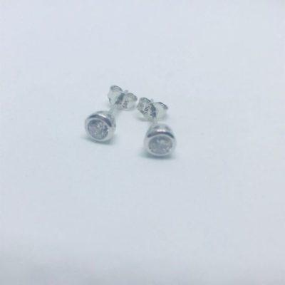 Λευκόχρυσα σκουλαρίκια 14 καράτια 0