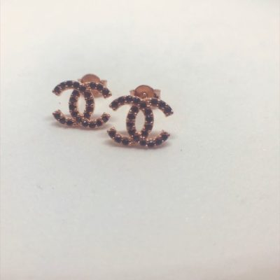 Ροζ χρυσά σκουλαρίκια 14 καράτια 1