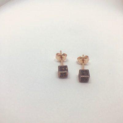 Ροζ χρυσό σκουλαρίκια 14 καράτια 1