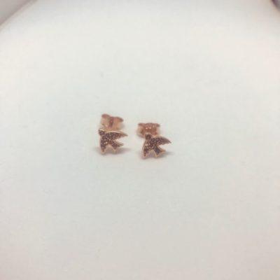 Ροζ χρυσό σκουλαρίκια 14 καράτια 0