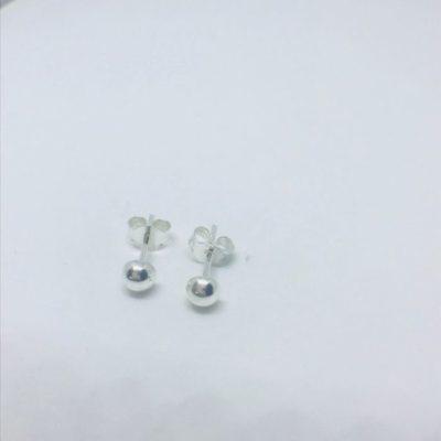 Γυναικεία ασημένια σκουλαρίκια φούσκες λούστρε