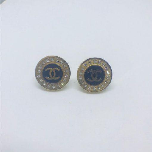 Ατσάλινα σκουλαρίκια επιχρυσωμένα σκουλαρίκια τύπου Channel