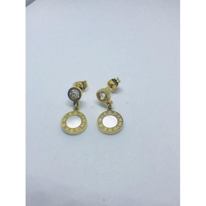 Ατσάλινα σκουλαρίκια επιχρυσωμένα τύπου Bulgari n.74 - oroloi ... 9f59c7f9617