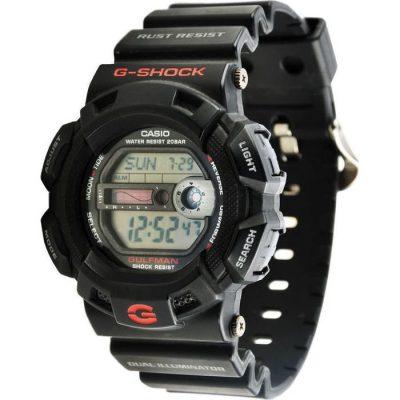 CASIO G-Shock Digital Gulfaman Black case with Black Rubber Strap G-9100-1ER