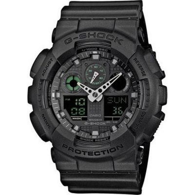 CASIO G-SHOCK Black Rubber Strap GA-100MB-1AER