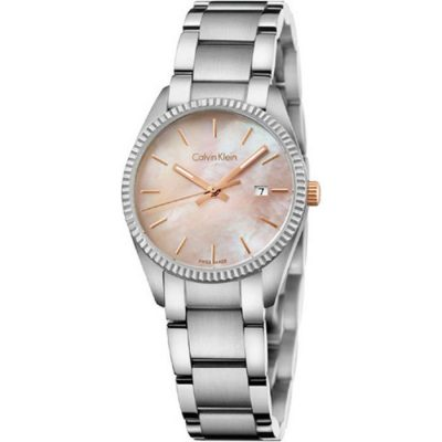 Calvin Klein Alliance Ladies Three Hands Stainless Steel Bracelet K5R33B4H