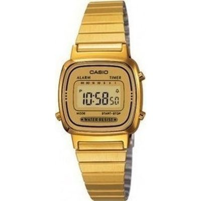 Casio Collection Gold Stainless Steel Bracelet LA-670WG-9