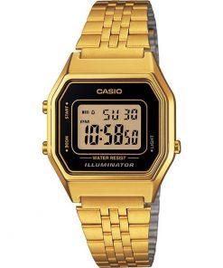Casio Collection Gold Stainless Steel Bracelet LA-680WEGA-1ER
