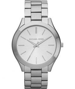Michael Kors Slim Runway Silver Plated Stainless Steel Bracelet Ladies Watch- Cod.:  MK3178