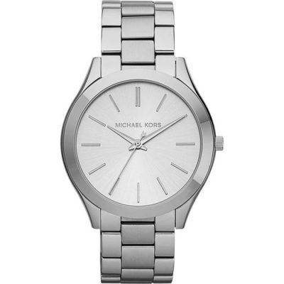 Michael Kors Slim Runway Silver Plated Stainless Steel Bracelet Ladies Watch- Cod.:  MK3178