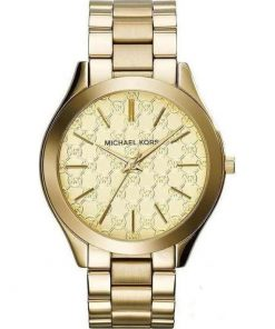 ΡΟΛΟΙ ΓΥΝΑΙΚΕΙΟ MICHAEL KORS RUNWAY SLIM GOLD STAINLESS STEEL BRACELET MK3335