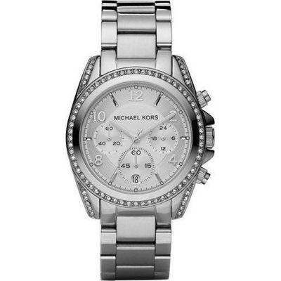 Michael KORS Chronograph Stainless Steel Bracelet Crystal Ladies MK5165