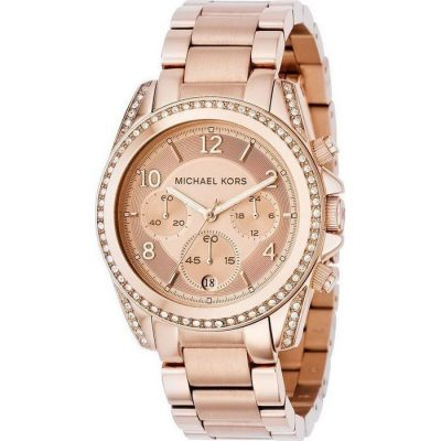 MICHAEL KORS Blair Chrono Rose Gold Plated Stainless Steel Bracelet Ladies Watch- Cod.: MK5263