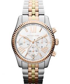 MICHAEL KORS Lexington Chronograph Tri-Tone Ladies Watch- Cod.: MK5735