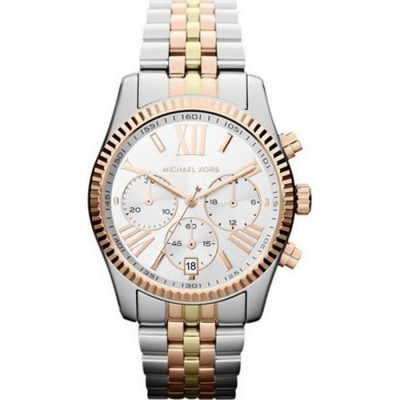 MICHAEL KORS Lexington Chronograph Tri-Tone Ladies Watch- Cod.: MK5735