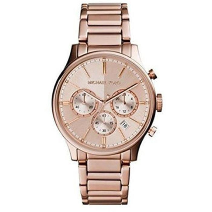 Michael Kors Bailey Rose Gold Plated Chronograph Stainless Steel Bracelet Ladies Watch- Cod.: MK5987