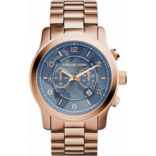 Michael Kors Watch Hunger Stop Rose Gold Tone & Gray Dial MK8358